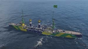 World of Warships recebe primeiro navio de guerra brasileiro