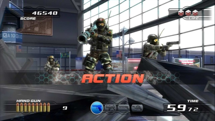 Top five of the best PlayStation Move compatible light gun games for     Time Crisis Razing Storm