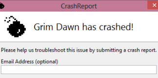 grim dawn crashing