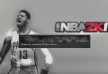 nba 2k17 not working