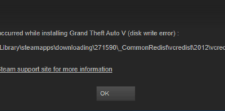 Steam Disk Write Error