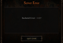 Vermintide 2 Backend Error