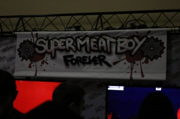 Super Meat Boy Forever Booth.