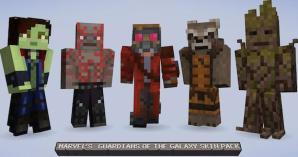 Guardians of the Galaxy invade Minecraft on Xbox 360 with new DLC Skins.