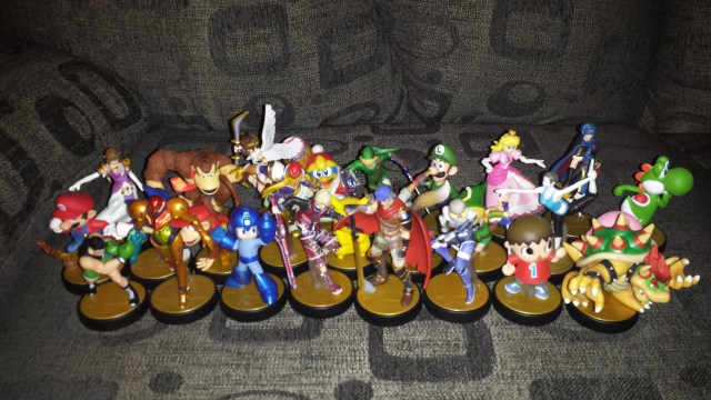 Current amiibos I have available to me.