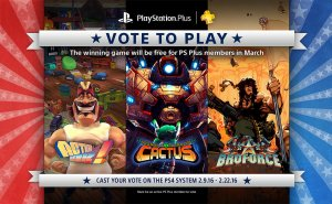 PSPlus members will get to vote for March's free game