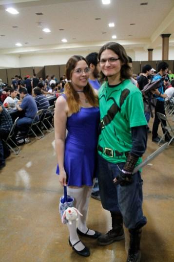 Link ninja y su dama