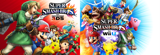Portadas de Smash Bros 3DS y Wii U