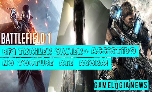 Battlefield 1 é o trailer gamer mais assistido no YouTube até agora 2016!