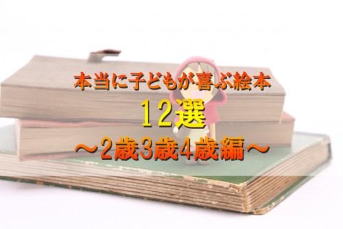 本当に子どもが喜ぶ絵本 12選 ~2歳3歳4歳編~