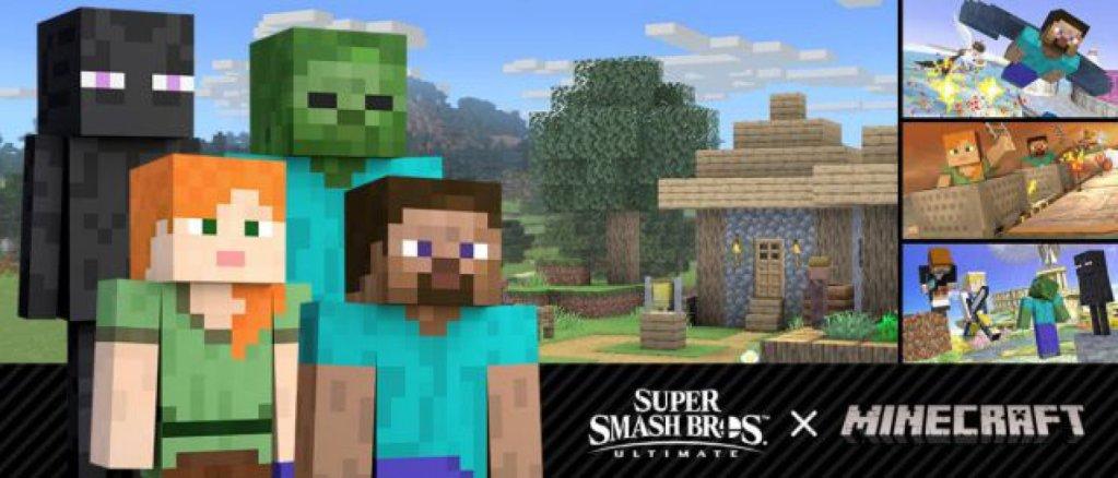 Steve y Alex se unirán a Super Smash Bros