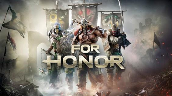 Imagen carátula inicial juego For Honor 3 héroes de diferentes facciones