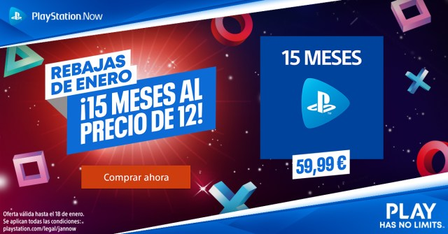 PSStore Rebajas Enero PS NOW 1