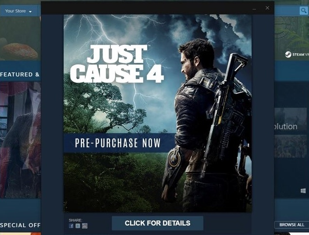 Steam случайно анонсировал Just Cause 4