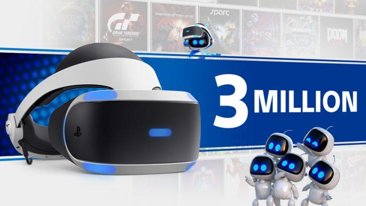 PlayStation VR продалась тиражом более 3 миллионов по всему миру