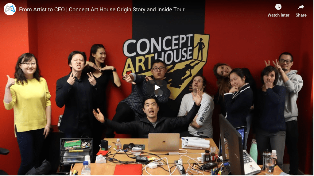 From Artist to CEO | Concept Art House Origin Story and Inside Tour