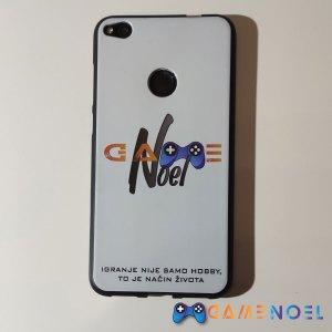 Gumena zaštitna maskica za mobitel s GameNOEL logom bijela