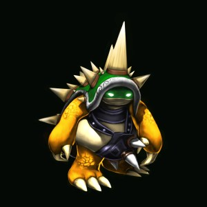 A King  (koopa) Rammus Skin I got for being a Beta tester for League of Legends. Can't get it any other way, people get way jealous of this one.