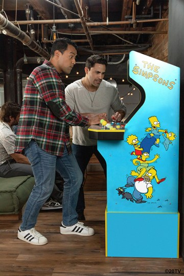 The Simpsons Arcade machine by Arcade1Up official image