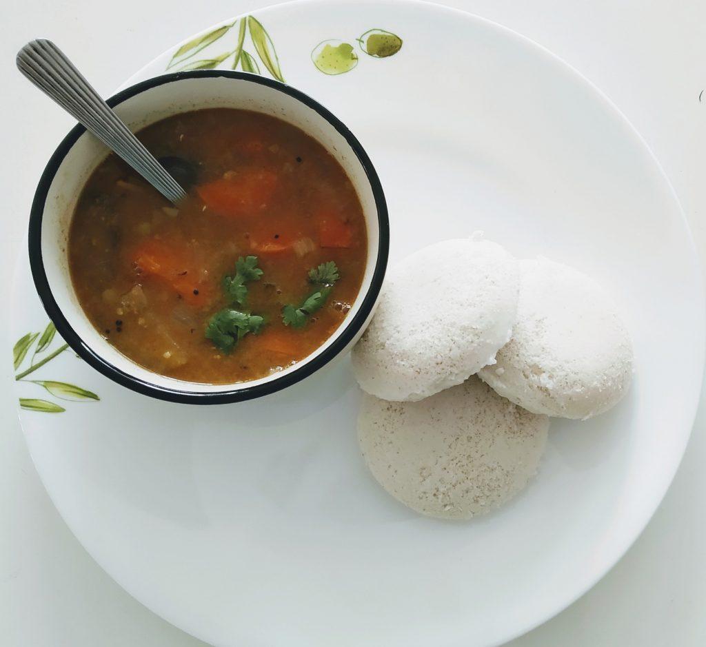 9000-Healthy kodo millet Steamed Indian food recipe