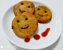 Smiley made with healthy sweet potato
