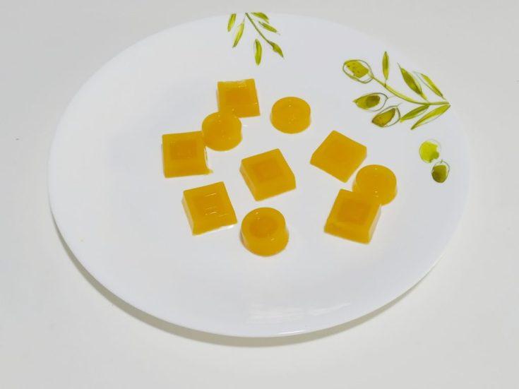 Homemade mango jelly recipe made with agar agar