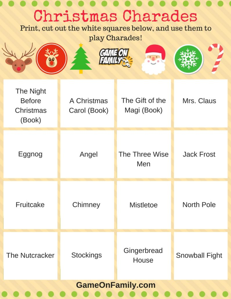 Old Fashioned Christmas Games