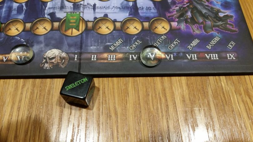 The monster die says skeleton, so we skeleton! Why a skeleton has more HP than a ghoul, I have no idea.