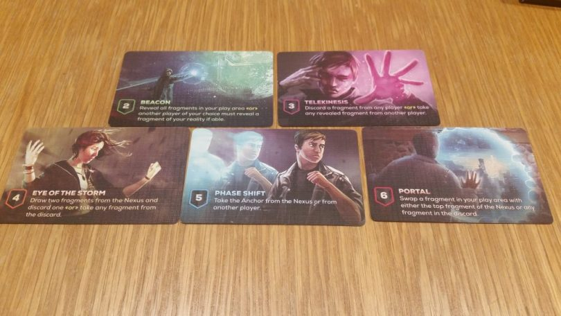 The 5 basic action cards which everyone gets.