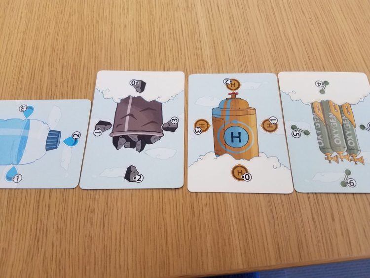 Resource management, tracked through simple, effective cards.
