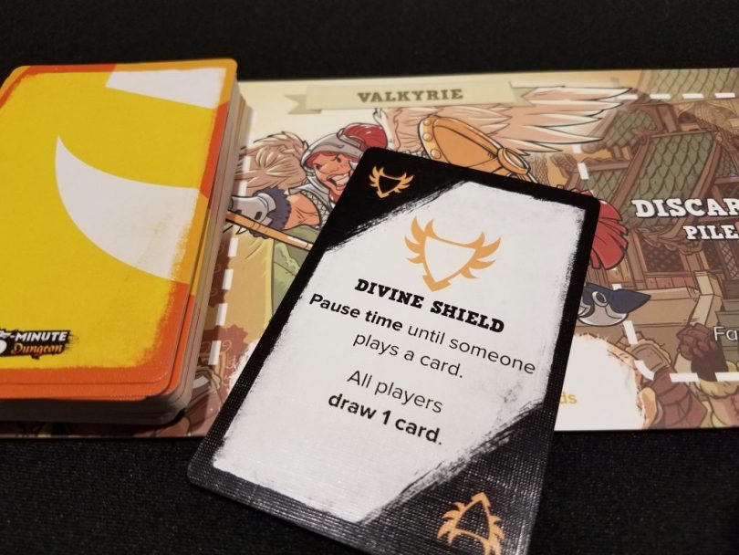In the Valkyrie's deck are cards that help the entire party, as well as those which smite foes justly.