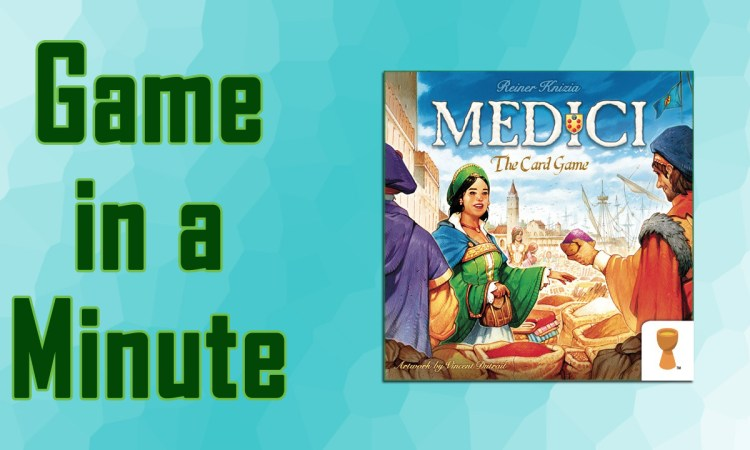 Game in a Minute Medici Card Game