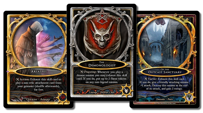 white wizard s new card game sorcerer on kickstarter now