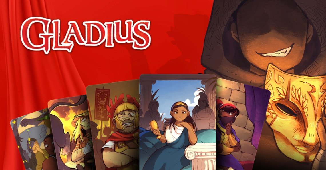 Gladius - A Game of Spectacle and Sabotage Kickstarter banner