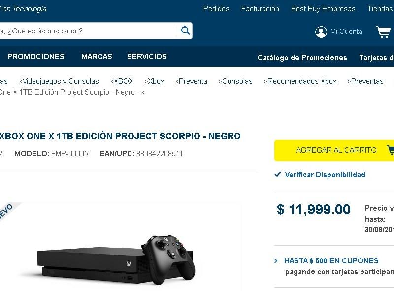 Xbox One X Project Scorpio ya en preventa
