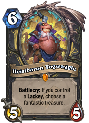 Heistbaron Togwaggle Hearthstone Wiki