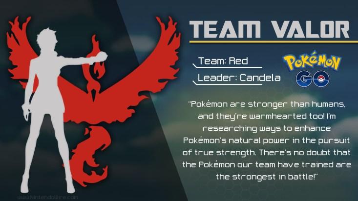 pokemon go team valor