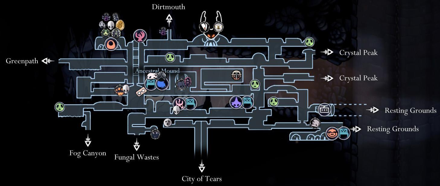 Resultado de imagen de hollow knight map