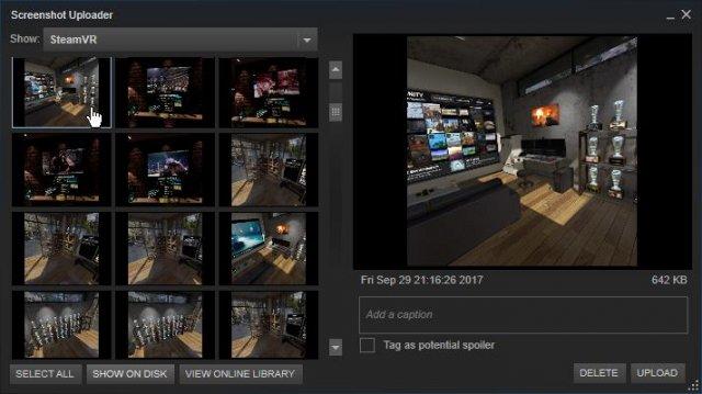 Steam - Cómo tomar una captura de pantalla en VR