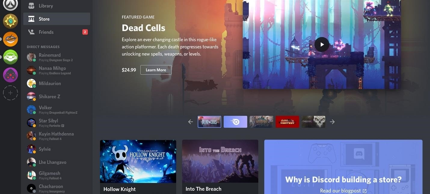 Discord is going to start selling gamesGame playing info