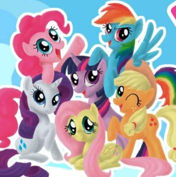 Игра раскраски Май литл пони играть онлайн бесплатно