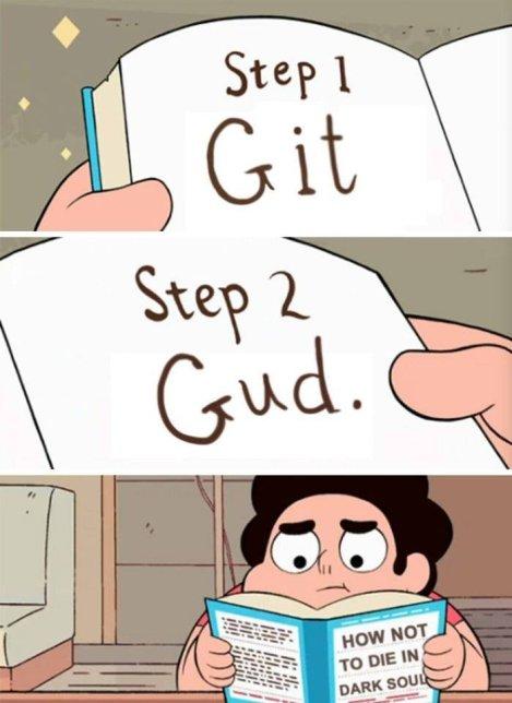 a book saying to get good at dark souls