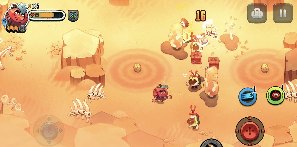 Juicy Realm, the twin-stick shooter where you battle fruit monstrosities, will be heading for iOS and Android in May