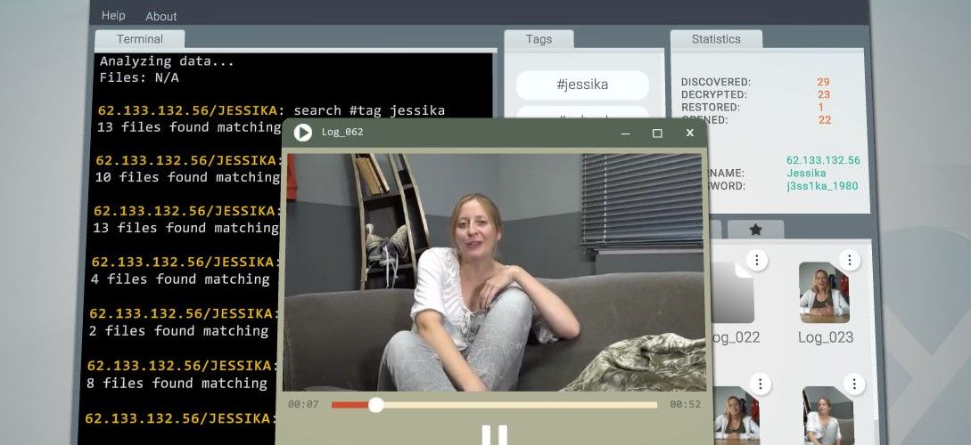 Jessika is a Her Story-style FMV mystery about a young woman's suicide—or murder