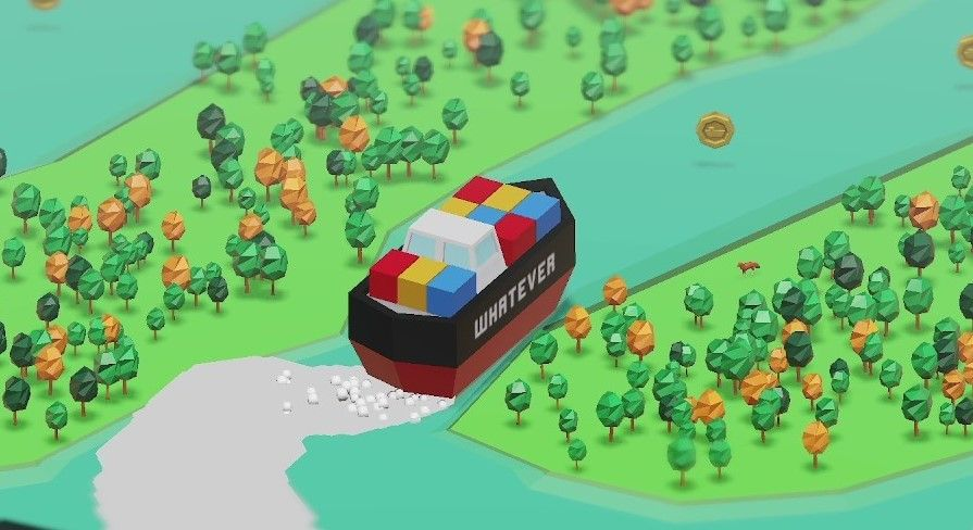 A game where you're the ship that blocked the Suez Canal