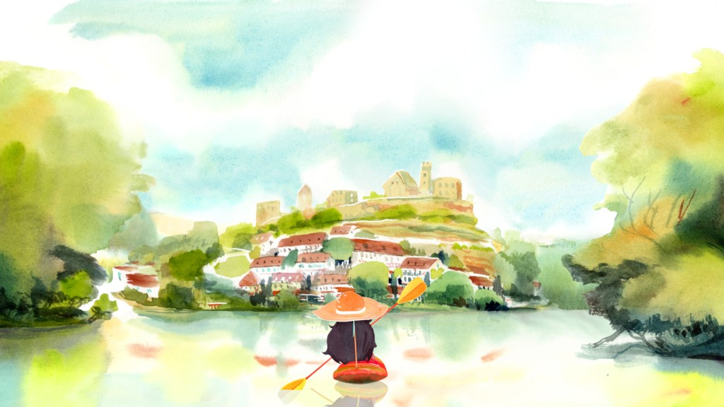 Gorgeous watercolor adventure Dordogne honors memories & family