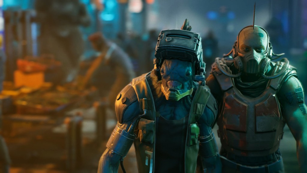 The Ascent is a cocktail of cyberpunk goodness with action-RPG elements