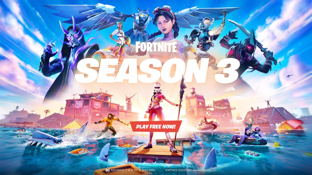 Splash Down with Fortnite Chapter 2 – Season 3 on Xbox One