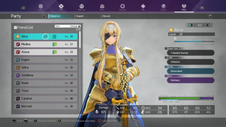 Sword Art Online Alicization Lycoris Increase Affinity Guide Romance Heart To Heart 1
