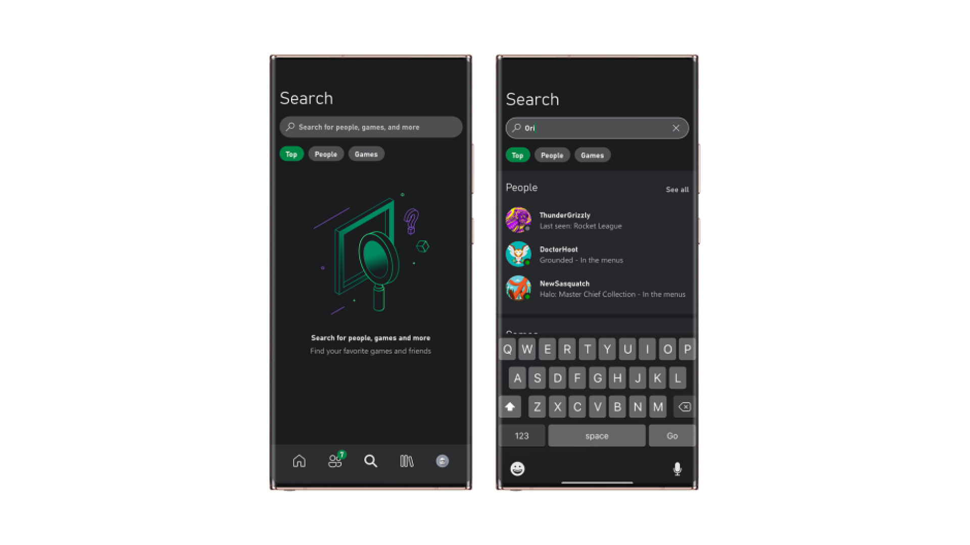 Xbox Mobile Search